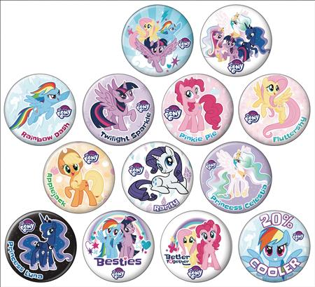 MY LITTLE PONY FRIENDSHIP IS MAGIC 144PC BUTTON DIS (C: 1-1-