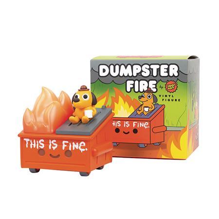 LIL DUMPSTER FIRE THIS IS FINE VINYL FIGURE (Net) (C: 1-1-2)