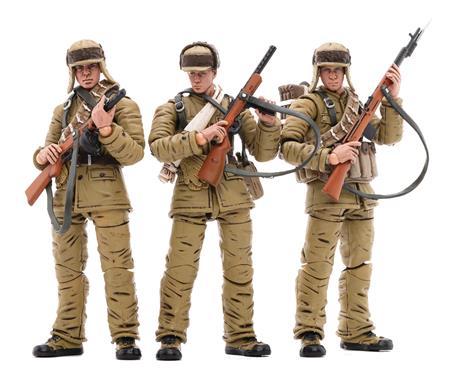 JOY TOY CHINESE PEOPLES VOLUNTEER ARMY (WINTER) 1/18 FIG 3PK