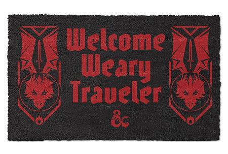 D&D WELCOME WEARY TRAVELER DOORMAT (C: 1-1-2)