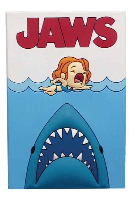 JAWS POSTER 3D FOAM MAGNET (C: 1-1-2)