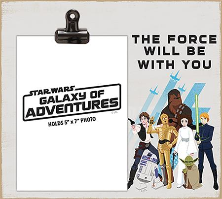 STAR WARS FORCE WILL BE WITH YOU PHOTO FRAME WITH CLIP (C: 1
