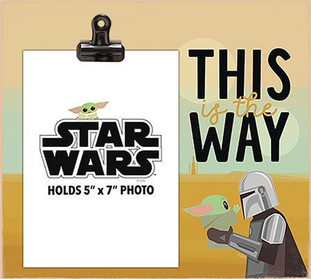 STAR WARS THIS IS THE WAY THE CHILD PHOTO FRAME WITH CLIP (C