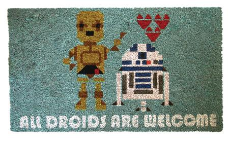 STAR WARS ALL DROIDS ARE WELCOME DOORMAT (C: 1-1-2)