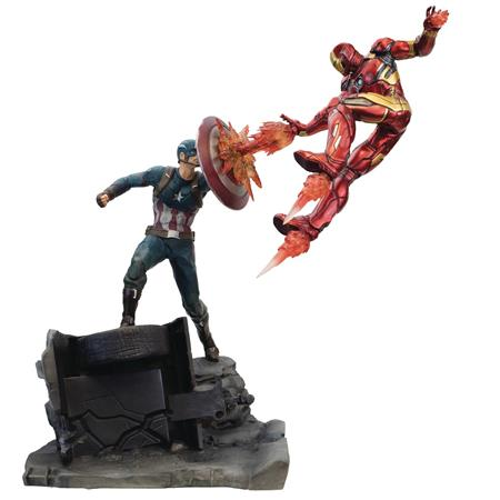CAPTAIN AMERICA VS IRON MAN PREMIUM MOTION STATUE (C: 1-1-2)