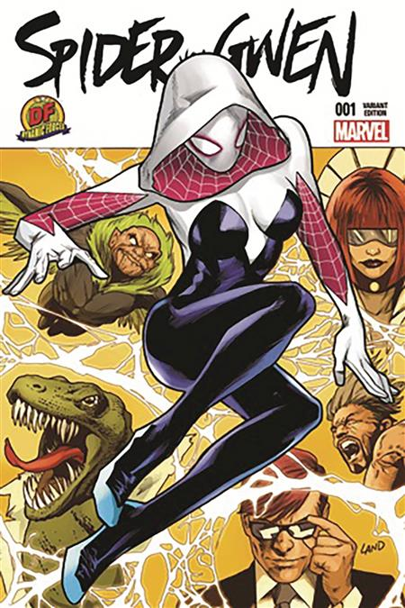 DF SPIDER GWEN #1 GREG LAND EXC (C: 0-1-2)
