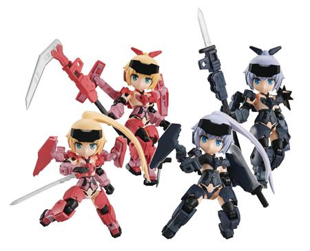 DESKTOP ARMY FRAME ARMS GIRL KT-323F JINRAI 4PC DISPLAY (C: