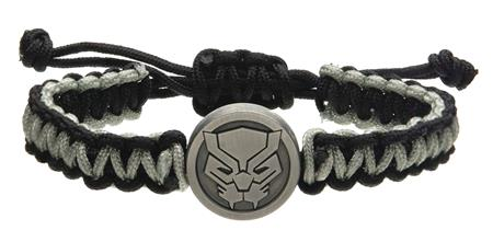 MARVEL HEROES BLACK PANTHER PARACORD BRACELET (C: 1-1-2)
