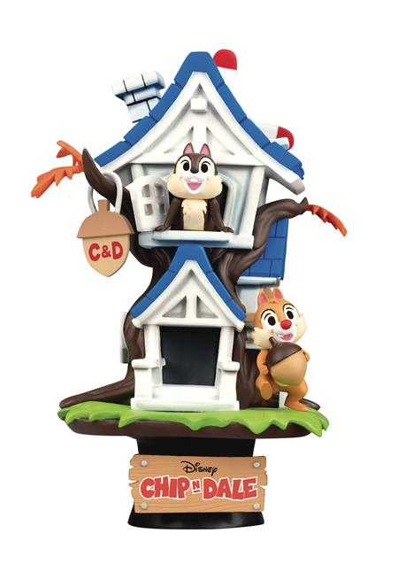 DISNEY DS-028 CHIP N DALE TREEHOUSE D-STAGE PX 6IN STATUE (C