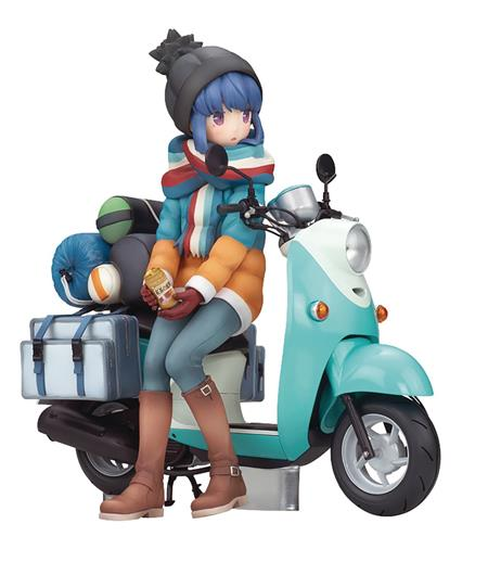 LAID BACK CAMP STAMP RIN SHIMA W/ SCOOTER 1/10 PVC FIG (C: 1
