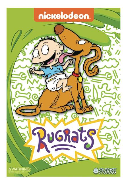 RUGRATS TOMMY AND SPIKE ENAMEL PIN (C: 1-1-2)