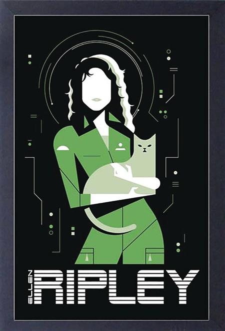 ALIENS RIPLEY AND CAT 11X17IN FRAMED POSTER (C: 1-1-2)