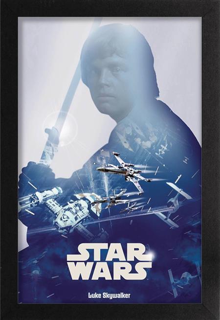 STAR WARS LUKE SKYWALKER 11X17IN FRAMED POSTER (C: 1-1-2)