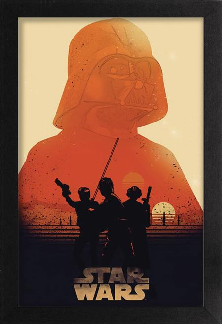 STAR WARS TATOOINE SUNSET 11X17IN FRAMED POSTER (C: 1-1-2)