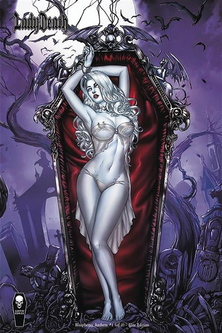 LADY DEATH BLASPHEMY ANTHEM #1 (OF 2) 10 COPY KROME ELITE IN