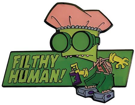 INVADER ZIM FILTHY HUMAN PIN (C: 1-1-0)