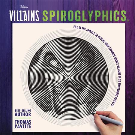 DISNEY VILLAINS SPIROGLYPHICS ACTIVITY BOOK (C: 1-1-0)