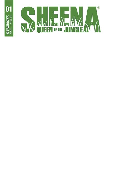SHEENA QUEEN JUNGLE #1 CVR F BLANK AUTHENTIX