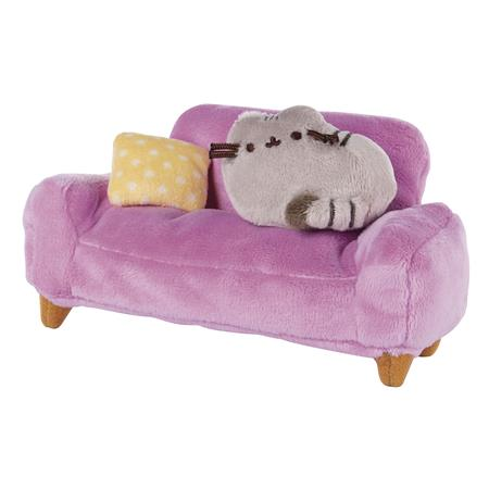 GUND PUSHEEN AT HOME WITH PINK COUCH COLLECTOR SET OF 2 (Net
