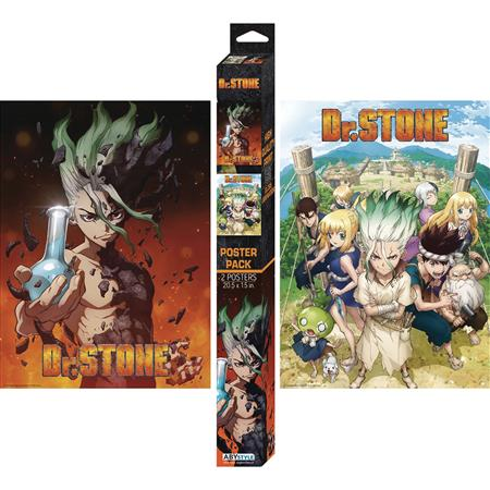 DR STONE BOXED 2PC POSTER SET (C: 1-1-2)