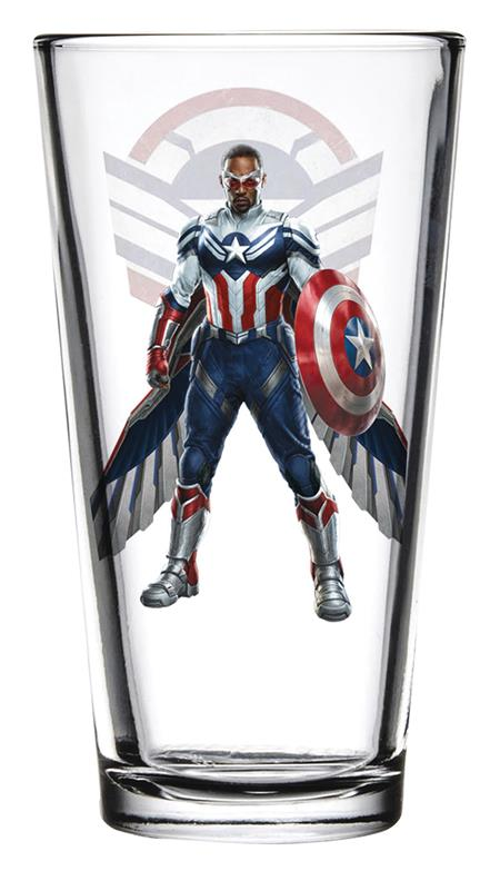 TOON TUMBLERS FALCON/WINTER SOLDIER FALCON PINT GLASS (C: 1-