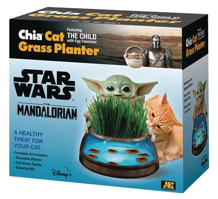 CHIA CAT GRASS PLANTER STAR WARS THE CHILD W/EGG CANISTER (C