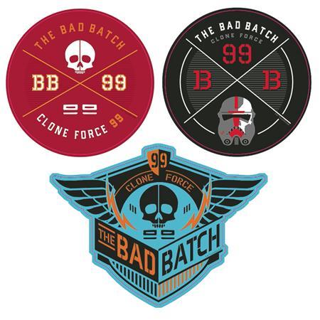 STAR WARS BAD BATCH CLONE FORCE 99 DEVICE DECALS (C: 1-1-0)