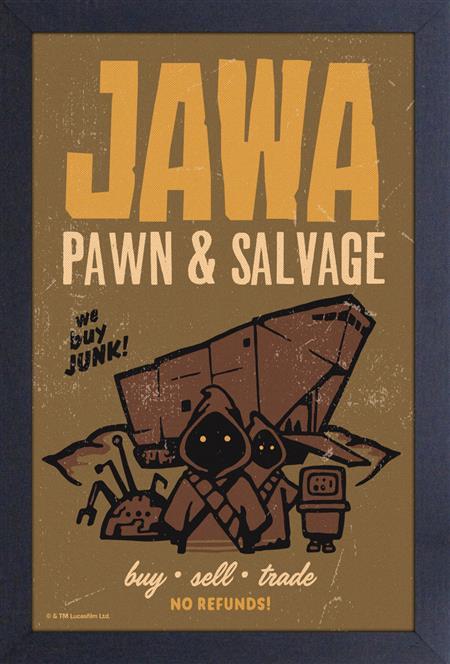 STAR WARS JAWA PAWN & SALVAGE 11X17 FRAMED PRINT (C: 1-1-2)