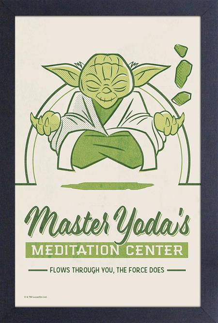 STAR WARS MASTER YODA MEDITATION CENTER 11X17 FRAMED PRINT (