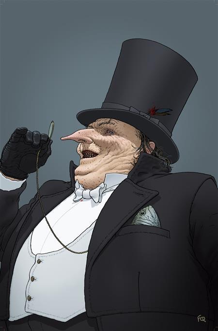 GOTHAM CITY VILLAINS ANNIVERSARY GIANT #1 (ONE SHOT) CVR C FRANK QUITELY PENGUIN CARD STOCK VAR